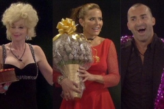 Entering Big Brother house with Edible Bouquet from Fruity Gift