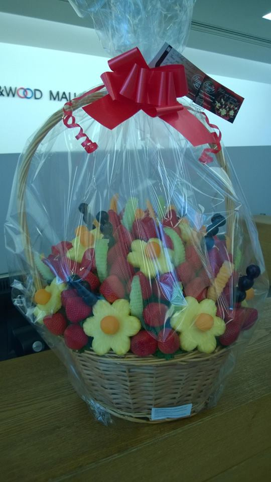 Fresh Edible Bouquet delivered to King Wood Mallesons LLP.