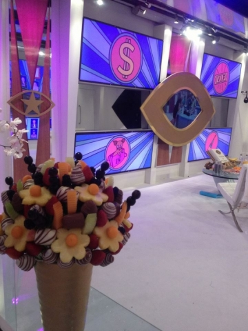 Fresh Start of Big Brother House! Fresh Fruit Flower Bouquets arranged by Fruity Gift.