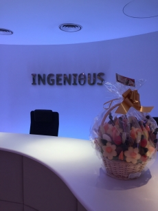 Delicious Edible Arrangements made by Fruity Gift, delivered to Ingenious London.