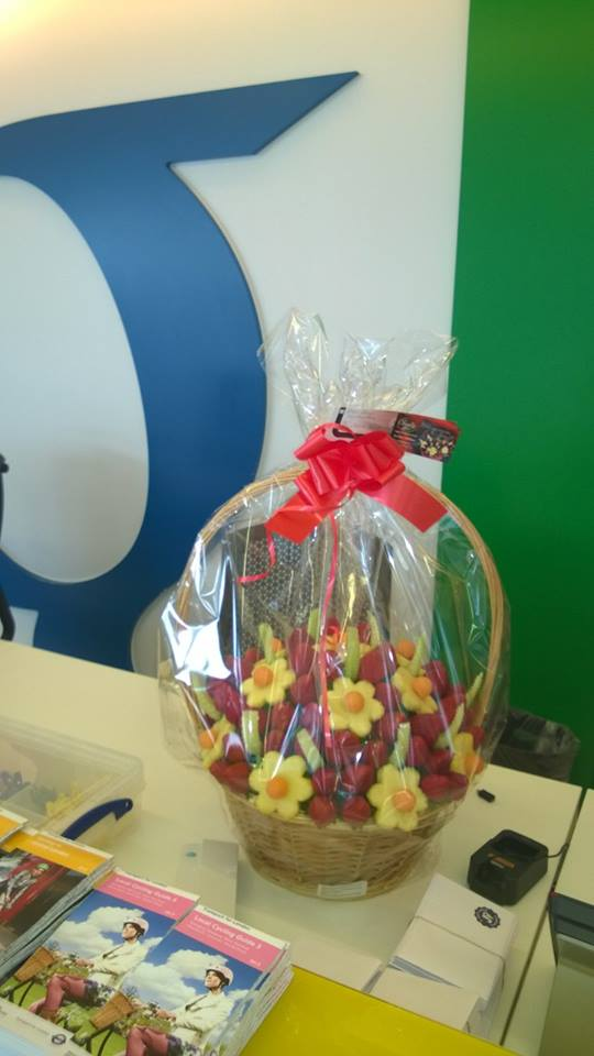 Fresh Edible Bouquets delivered once again for Google Uk.