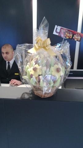 Fruit Flower delivered to Sefridges in central London.