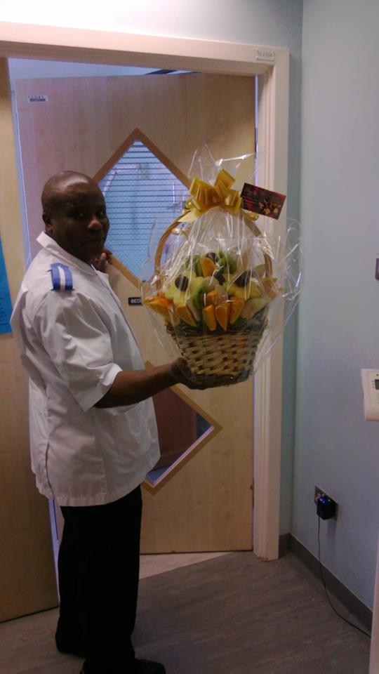 Get Well Soon Fruit Bouquet delivered to a Hospital in Manchester.