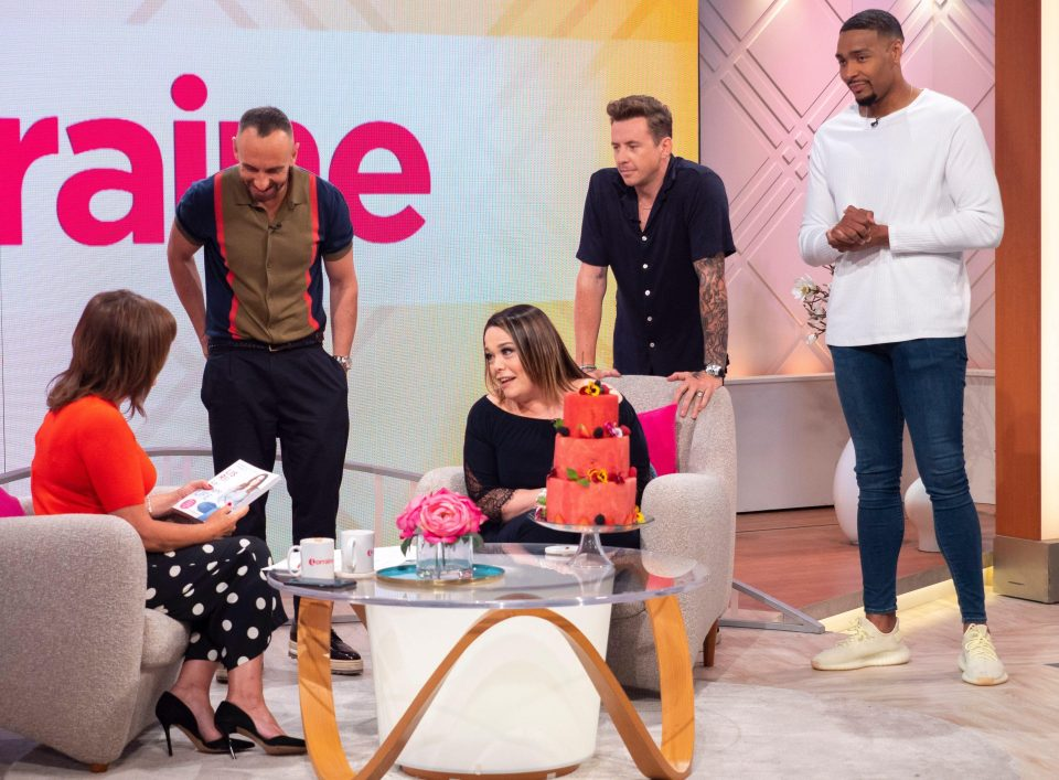 Lisa Riley celebrates her Birthday with Watermelon Cake made by Fruity Gift at Today's-Lorraine on ITV.