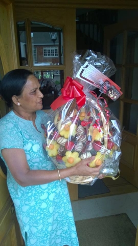 Happy Mother's Day Fruit Bouquet for Mom.