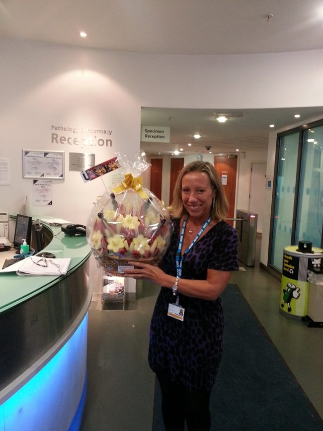 Fruit Basket delivered to Trust Executive Offices for a Hospital in Barts Health NHS.