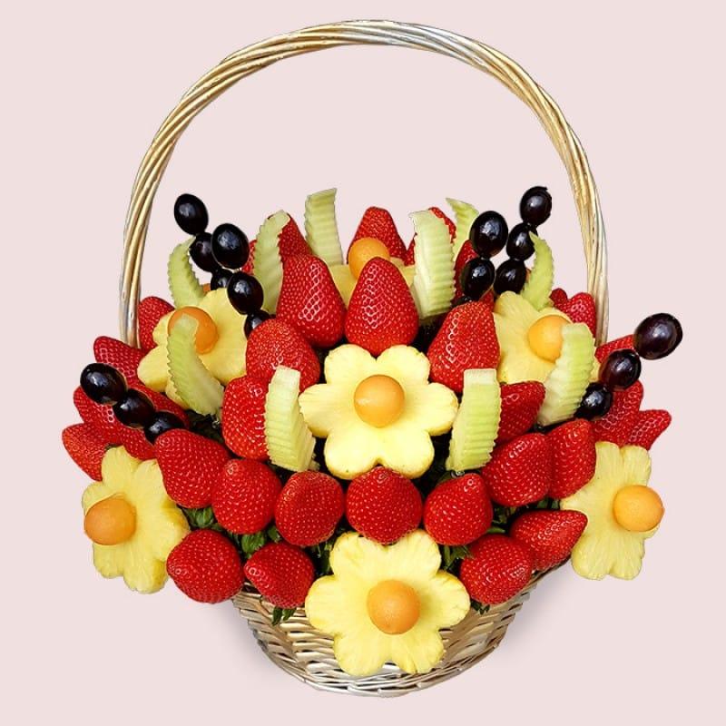Fruity Gift Fresh Delicious Fruit Basket Fruit