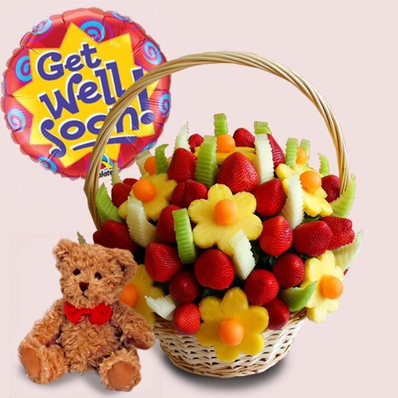 Fruity Gift: Get Well Soon Fruit Basket-Package