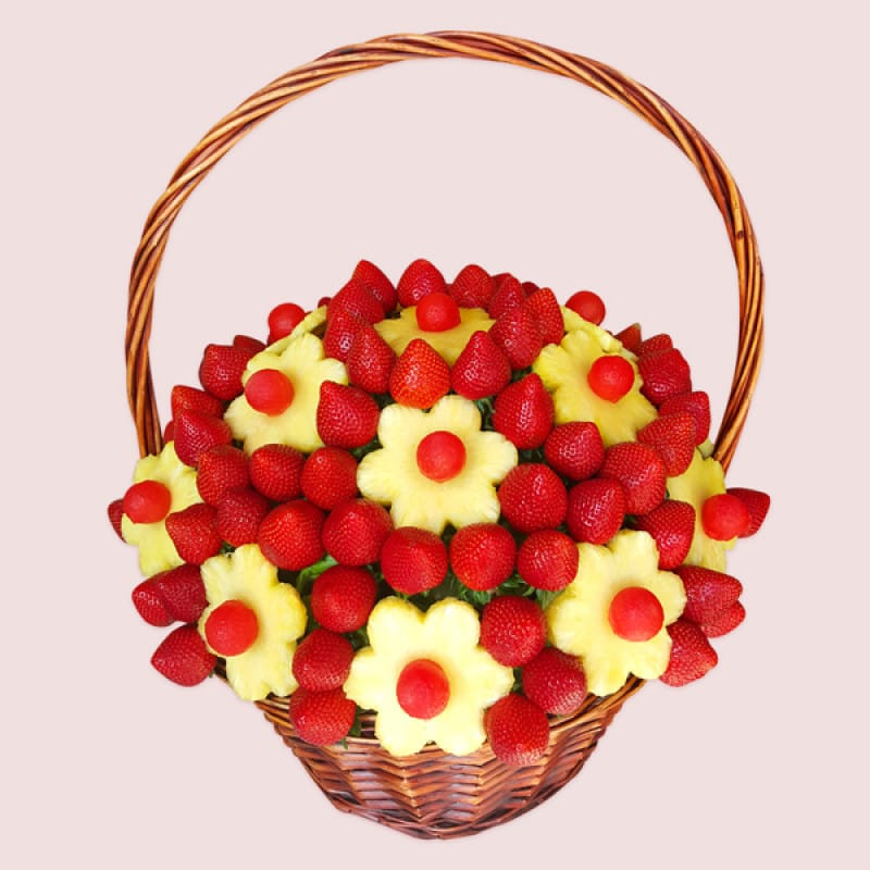 Fruity Gift: Triumph fruit flowers | fruits arranged like flowers ...