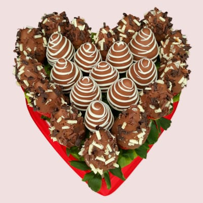 Fruity gift love gifts for him her romantic gift ideas chocolate strawberries love heart negle Image collections