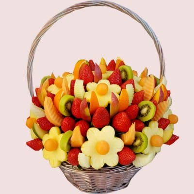 NEW! Rainbow Edible Fruit Basket